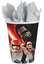 Star Wars EP7 The Force Awakens Paper Cups 8 Per Package Birthday Party Supplies - $4.90