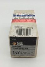 "(New) Black & Decker  1 3/4"" Self Feed Wood Boring Drill Bit 17405 - $27.71"