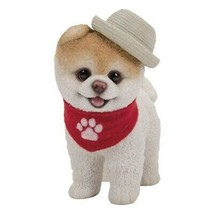 Pacific Giftware PT Short Hair Boo Dog with Straw Hat Cowboy Scarf Home - $19.79