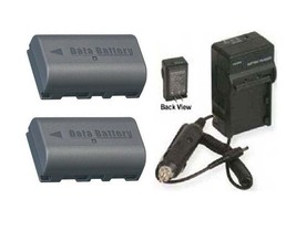 Two 2 Batteries + Charger For Jvc GZ-MS120RUS GZ-MS120S GZ-MS120SE GZ-MS120SEK - $47.84
