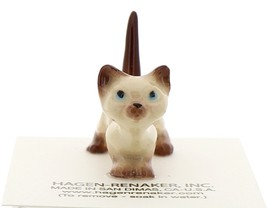 Hagen-Renaker Miniature Cat Figurine Siamese Kitten Curious Chocolate Point image 2