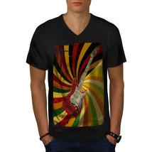 Bass Guitar Song Music Shirt Rock Music Men V-Neck T-shirt - $12.99+