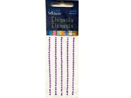 Mark Richards Crystal Element Stickers, 2mm, Purple #2544