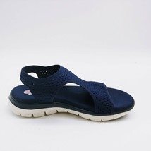 Skechers Womens Flex Appeal 2.0 Deja Vu Slingback Sport Sandals Navy 7 - $34.64
