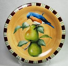 Lenox Winter Greetings Everyday Salad Plate Tartan Eastern Blue Bird  - $8.00