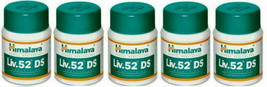5 X Himalaya Herbal Liv 52 DS Double Strength 60 Tablets Pack Free Shipping - $24.74