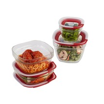 Rubbermaid Easy Find Lids Glass Food Storage Containers, Racer Red, 8-Pi... - $38.15