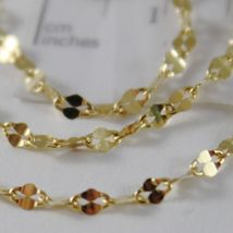 SOLID 18K YELLOW GOLD FLAT BRIGHT KITE CHAIN 20 INCHES, 2.2 MM MADE IN ITALY  image 3