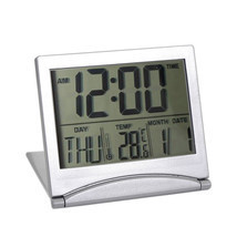 New Digital LCD Weather Station Folding Desk Temperature Travel Alarm Cl... - €10,24 EUR