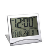 New Digital LCD Weather Station Folding Desk Temperature Travel Alarm Cl... - $12.59