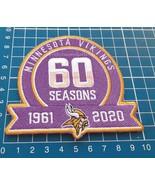 Minnesota Vikings 60th Anniversary Logo Patch NFL Football Superbowl USA... - $14.99