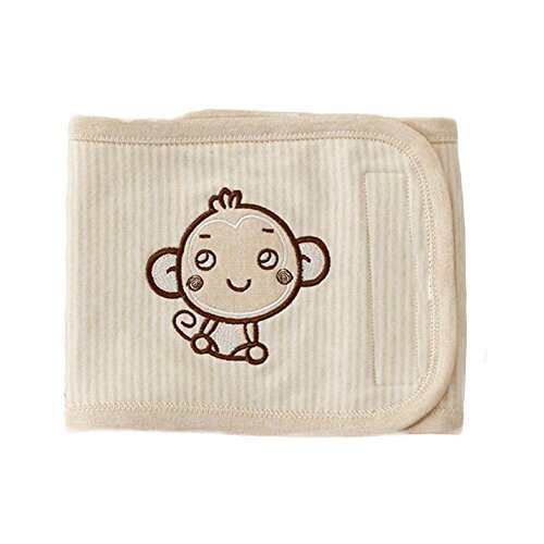 Cute Monkey Cotton Baby Belly Band Bibs Prevent Stomach from Getting Cold