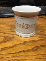 Old Vintage Tom & Jerry Mug White Cup w Gold Trim Japan - $13.65