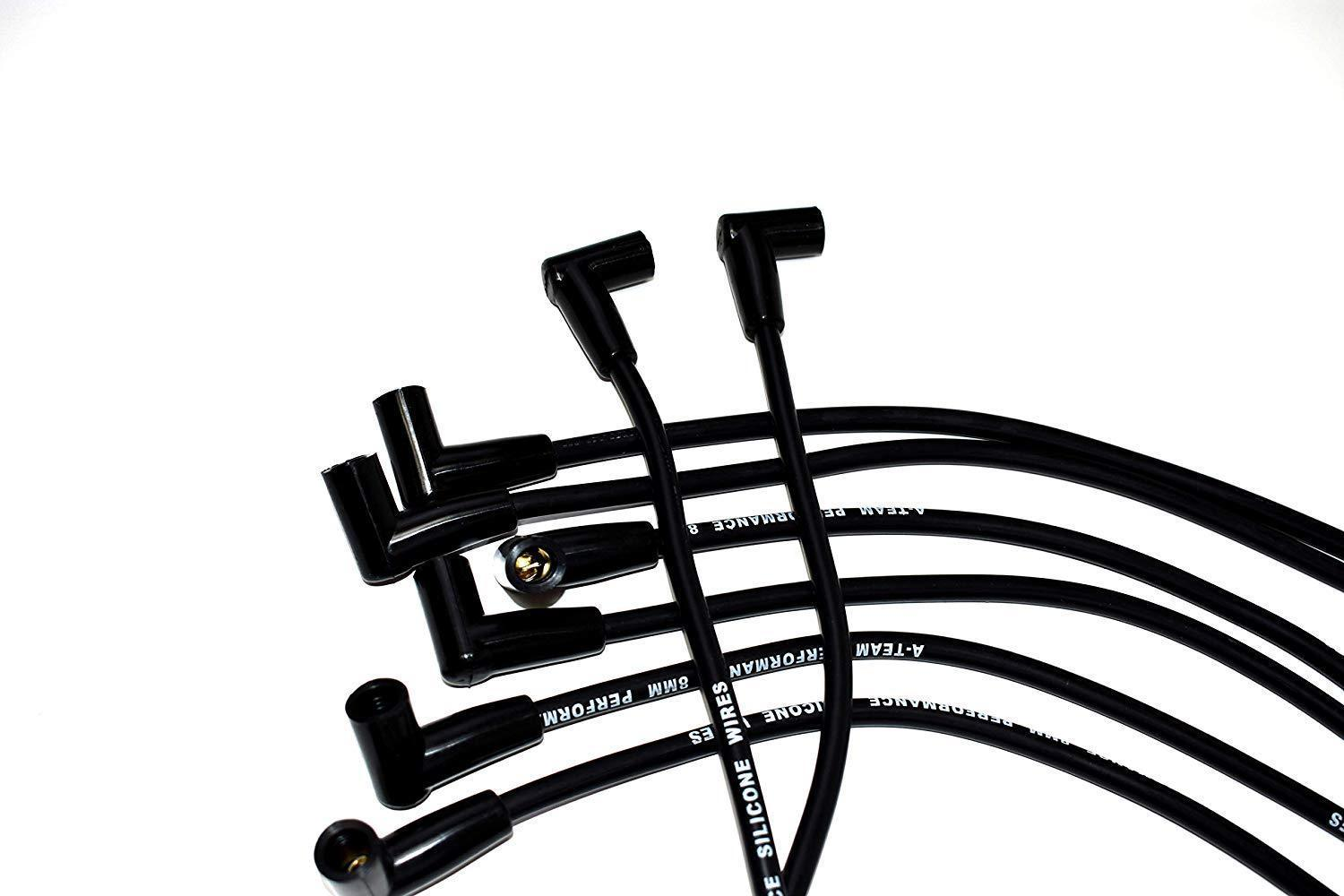 8.0mm Black Silicone High Performance Spark Plug Wire Set Fit SBC GM 283 305 307