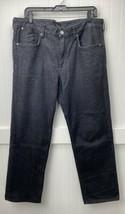 Tommy Bahama Authentic Jeans Sz 35/30 Mens Short Straight Leg Black Denim - $19.99