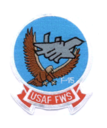 """4.25"""" AIR FORCES FIGHTER WEAPONS SCHOOL USAF FWS EMBROIDERED PATCH - $18.04"""