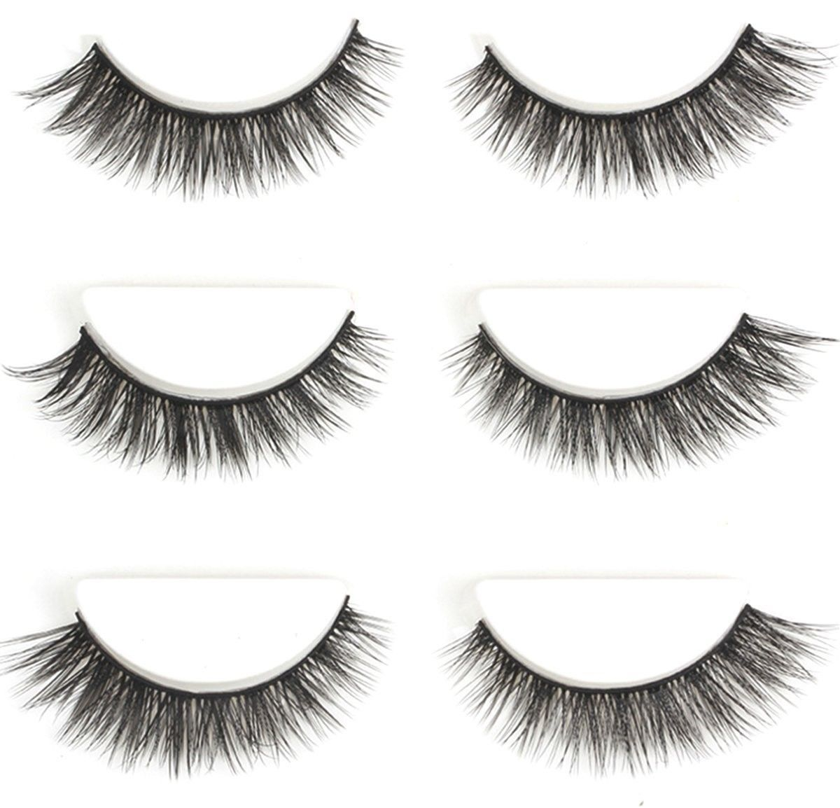 Primary image for Urbun 3 Pairs Luxurious Real Mink 3D Eyelashes Natural Volume Cross Thick False