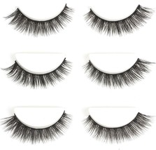 Urbun 3 Pairs Luxurious Real Mink 3D Eyelashes Natural Volume Cross Thic... - $24.56