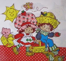 Vintage Strawberry Shortcake Party Favor Gft Bags Decorations American G... - $7.95