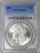1886 Morgan Dollar PCGS MS-62; Clashed VAM-6A; Frosty White - $79.19
