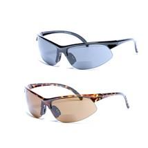 2 Pair of Unisex Bifocal Sport Wrap Sunglasses - Outdoor Reading Sunglasses - $20.99