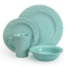 Aqua Sorrento 16 Piece Stoneware Dinnerware by Signature Housewares - $128.65