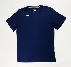 Mizuno Compression Diamond Short Sleeve Baseball Shirt Men's L Navy Blue... - $23.75