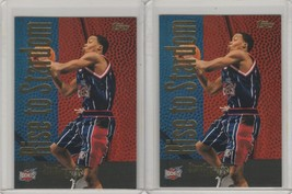 2000-01 Topps - Rise to Stardom #RS2 Steve Francis Lot of 2 - $2.00