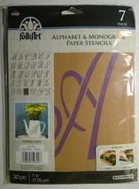 "Plaid Folkart Paper Stencils ~ Alphabet & Monogram ~ 7"" Script ~ NEW - $13.85"