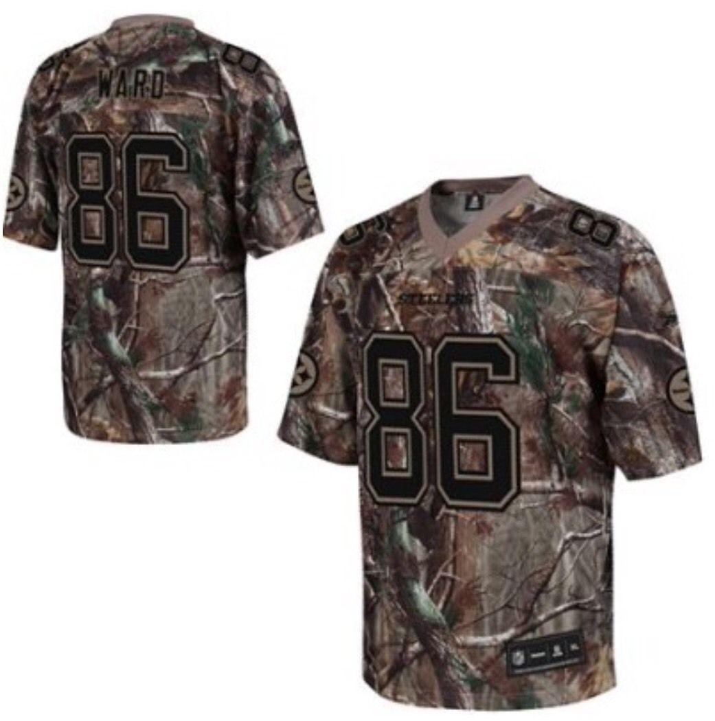 1a4349b7fa1 S l1600. S l1600. Previous. Pittsburgh Steelers NFL Hines Ward  86 Reebok L  Camouflage Jersey CLEARANCE