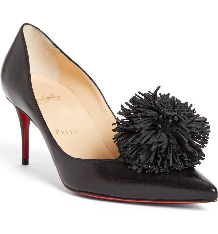 36a14b710e1 6103. 6103. Previous. Christian Louboutin Konstantina Pumps Pointy Toe Shoes  36 Black Leather ...