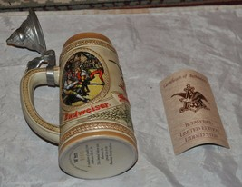 "Budweiser King of Beers ""M"" series w Lid Stein Limited Ed. V Bavarian Fe... - $28.04"