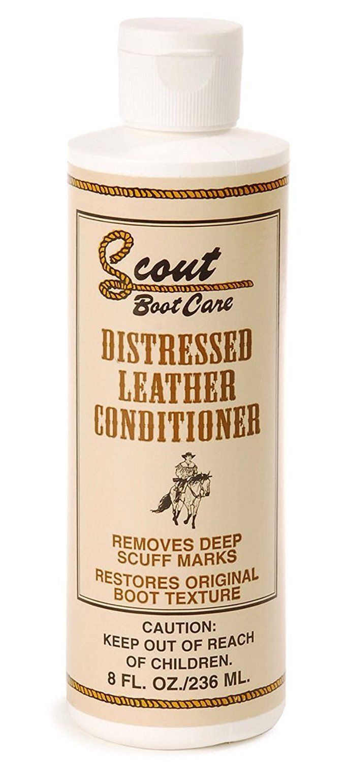 Scout Boot Care 8 Oz Natural Distressed Leather Conditioner