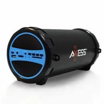 Axess  Portable Bluetooth Indoor/Outdoor 2.1 Hi-Fi Cylinder Loud Speaker - $37.61 CAD+