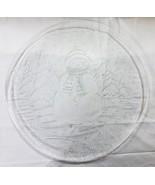 """Weihnachten Transparentes Glas Platte 12.5 """" Schneemann Schnee Baum - $13.43"""