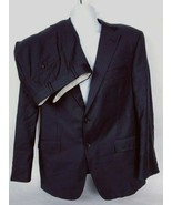 Samuelsohn Men's Black Pinstripe 2 Piece 2 Button 100% Wool Suit 42 Reg ... - $93.06