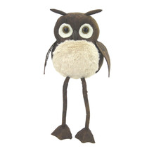 "Autumn Fall winter decoration Brown Fabric Owl Sitter, 8"" - $138.59"