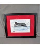 "Original Drawing Gibraltar 2000, G. Henshaw, 6"" x 4"", Framed & Matted - $15.88"