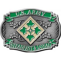United States American Army 4th Division Belt Buckle - $18.80