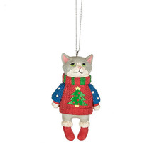 Cat in Ugly Sweater Ornament - $12.95