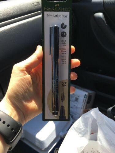 FABER-CASTELL USA  PITT ARTIST BULLET NIB PEN BLACK CARDED 0.7mm
