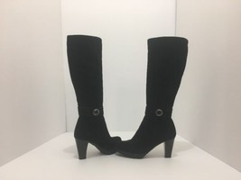 La Canadienne Merri Black Suede Women's Knee High Waterproof Boots Size 5.5 M - $134.72