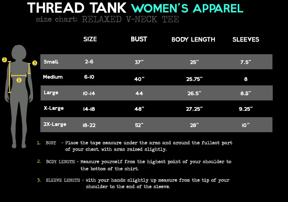Thread Tank Phenomenal Woman Women's Relaxed V-Neck T-Shirt Tee Charcoal