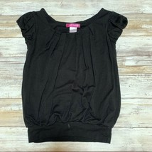 aqua girls black balloon top Size S - $14.85