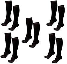 5 Pair Black Sm/Med - TASOM Compression Socks Over the Calf Below Knee A... - £20.04 GBP