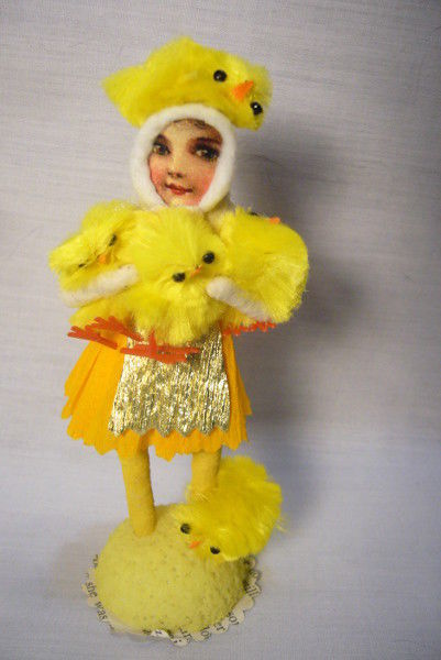 Vintage Inspired Spun Cotton The Easter Chick Keeper no. 179A