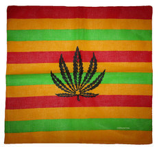 "Wholesale Lot of 3 Striped Weed Leaf 100% Cotton 22""x22"" Bandana - $9.88"