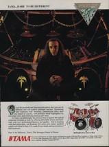 1991 Vintage Magazine Ad Page Tama Drums Queensryche Scott Rockenfield - $4.47