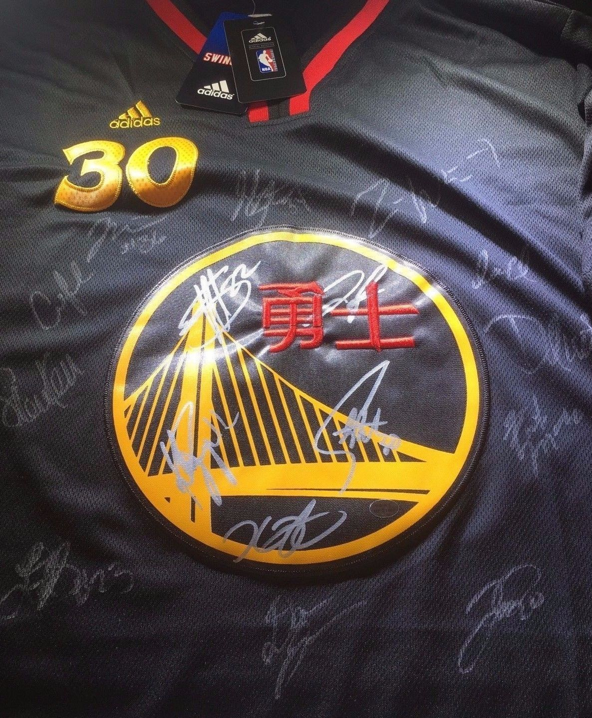 new arrivals c3415 b3c6d GOLDEN STATE WARRIORS - 2017 TEAM SIGNED CHINESE NEW YEAR NBA JERSEY - FULL  LOA