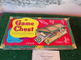 Vintage 1957 Whitman Game Chest Board-40 Games with instructions - $14.85